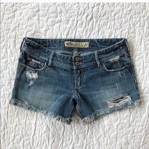 Hollister denim jean shorts